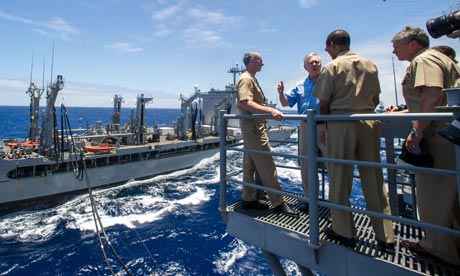 Biofuel US Navy Great Green Fleet with Navy Secretary Ray Mabus