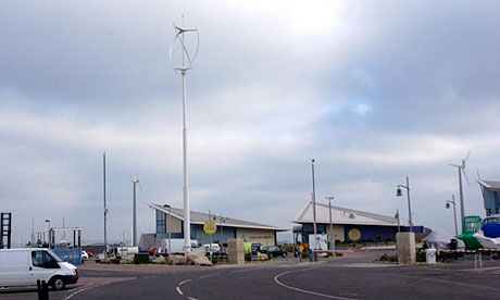 quietrevolution vertical axis qr5 wind turbine at the Olympic venue site Portland Marina