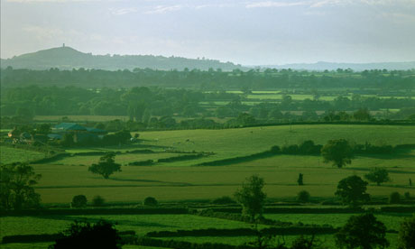 Country Diary : From Castle Cary Somerset looking across Somerset Levels to Glastonbury Tor