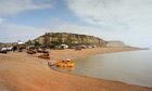 Fishing boats being hauled onto dry land. The Stade, Hastings