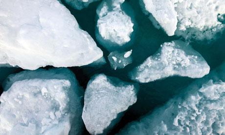 John Vidal in Arctic : Ice in Fram Strait