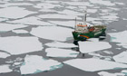 John Vidal in the arctic : Greenpeace MY Arctic Sunrise ship expedition to the Arctic