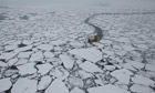 John Vidal in arctic : Sea Ice Minimum : Greenpeace MY Arctic Sunrise ship expedition 