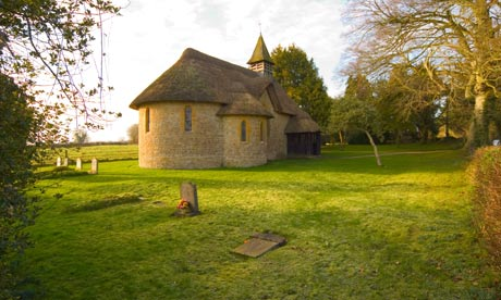 Country Diary : The thatched church of St George's at Langham in Dorset