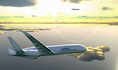 Airbus Smarter Skies campaign :  eco-efficient advantages of free-glide airplanes landings