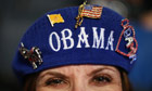 A patriotic Obama beret during Democratic National Convention: Day 2