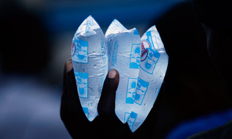 MDG : Price of Water : packets of water to sell