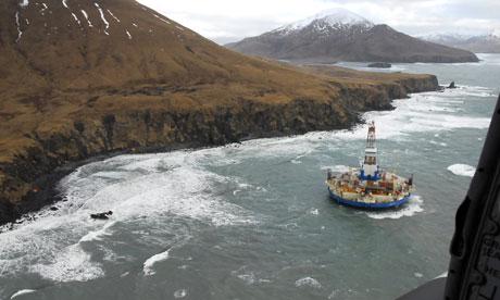 Shell Oil Arctic oil drilling rig Kulluk