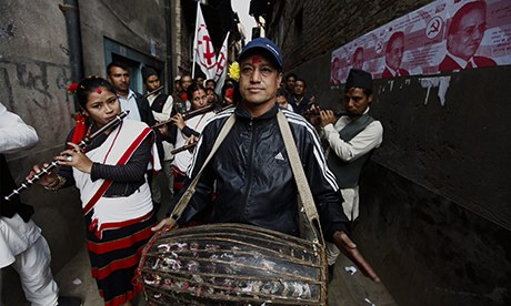 MDG : Maoist campaigning in the runup to the Nepal elections
