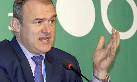 UK's energy and climate change secretary Ed Davey speaking at COP19 in Warsaw, Poland, 20 November 2013. Photograph: Jenny Bates - COP19-in-Warsaw--UK-Energ-006
