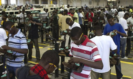 MDG : Haiti : Garnment industry : cal clothing and shoe factory, Caracol Industrial Park