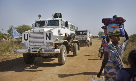 MDG : Conflicts in Africa : UN armored vehicle in Malakal, South Sudan