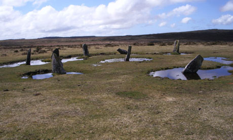 Country Diary : Nine Stones stone circle on Bodmin Moor in Cornwall