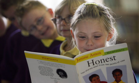 MDG : My World survey : A young girl reading a book about honesty