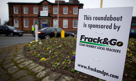 Greenpeace shale gas fracking proytest in Tatton constituency, Knutsford