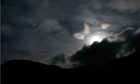 Country Diary : Moon hidden behind clouds