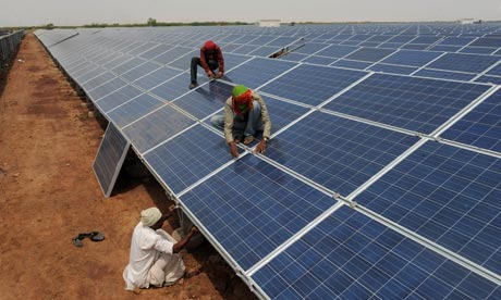 Terra India : Gujarat solar park at Charanka village of Patan district
