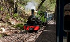 Country Diary : Steam train on Ravenglass to Eskdale narrow gauge  railway, Cumbria