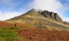 Country Diary : Walker ascending Great Gable in the English Lake District