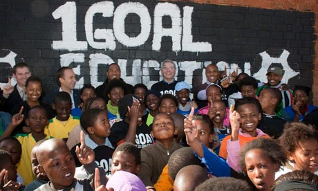 MDG : Aid to South Africa : Secretary for International Development, Andrew Mitchell in Soweto