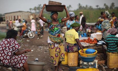 MDG market in Benin