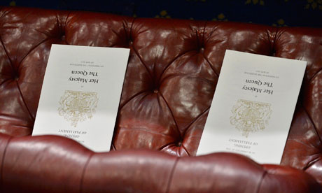 MDG Order of service cards for the Queen's speech