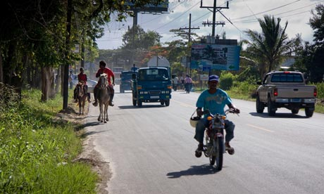 MDG : Road Safety : busy road in Sosua, Dominican Republic