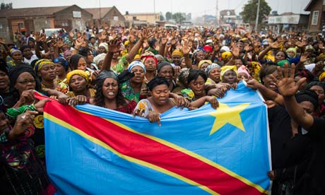 MDG : Congolese women demonstrate for peace in Goma, DRC