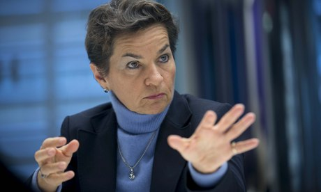 Christiana Figueres, UN climate chief, speaks at the Ceres investor event in New York. (Credit: Scott Eells/Getty Images) Click to enlarge.