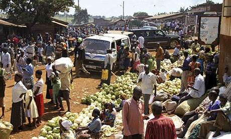MDG :  A market in the Elgon mountain region, Ugan