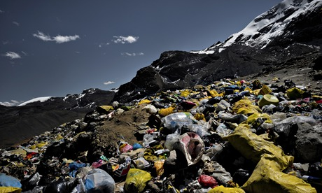 Peru climate change meeting in Lima : Garbage seen piled up in Andes