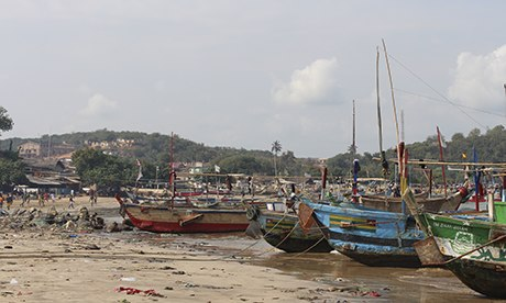 Running aground … the discovery of offshore oil was meant to reshape Ghana's future, but progress has been slow. Photograph: Celeste Hicks for the Guardian