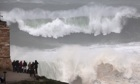 Stormy weather : Atlantic Storm Causes Huge Waves Off Coast Of Portugal