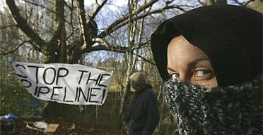 Protest against the pipeline