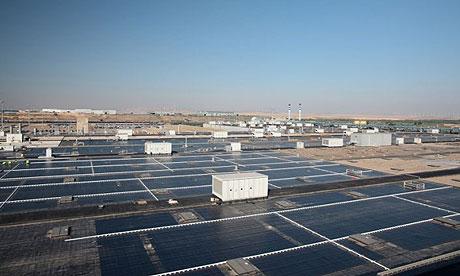 solar power plant. solar power station being