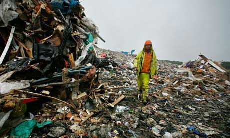 Landfill site swamped with rubbish Caroline Spelman has called for a