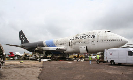 The British Airways Boeing 747 used to make the 10:10 tags