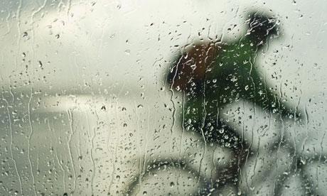 biking rain