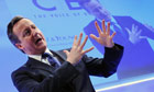 David Cameron delivers a speech at the Confederation of British Industry annual conference in London