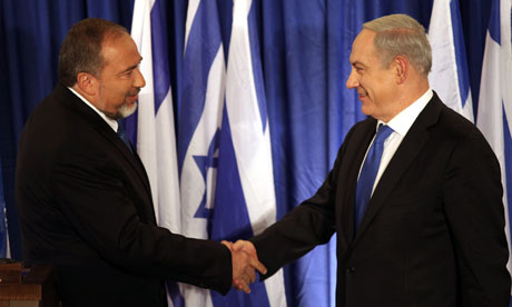 Binyamin Netanyahu and Avigdor Lieberman