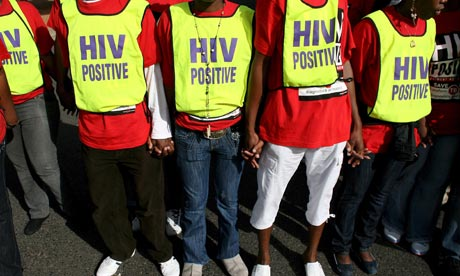 South Africans protest in support of action on HIV and Aids