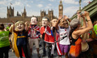 Protesters in London call on G8 leaders to beat hunger