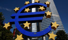 The Euro currency sign is seen in front of the European Central Bank (ECB) headquarters in Frankfurt
