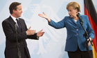 German Chancellor Angela Merkel and British Prime Minister David Cameron