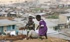 Kenyan children play in Nairobi's sprawling Mathare slum