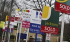 For Sale and To Rent Signs estate agent boards