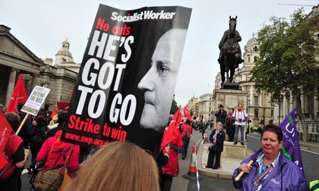 A Socialist Workers party protest