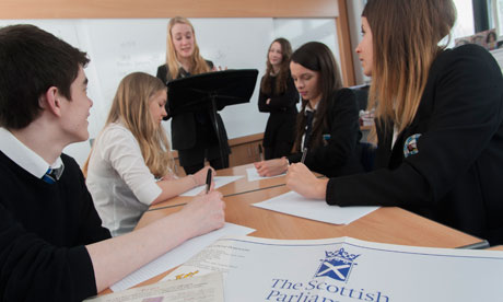 Pupils at Glasgow's Douglas Academy debate Scotland's independence ahead of next year's vote