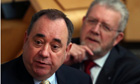 The Scottish first minister, Alex Salmond, speaks during question time in the Scottish parliament