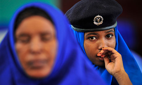 MDG: Somalia police officers in Mogadishu